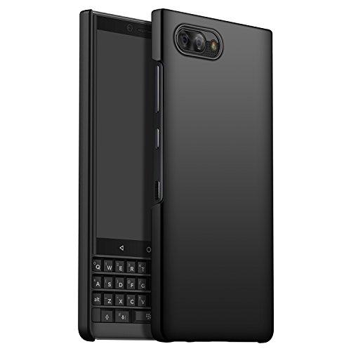 GOGODOG Kompatibel mit BlackBerry Key2 LE Hülle Vollständige Abdeckung Ultra dünn Matte Anti-Rutsch Kratzen Beständig Hartschale (Schwarz)