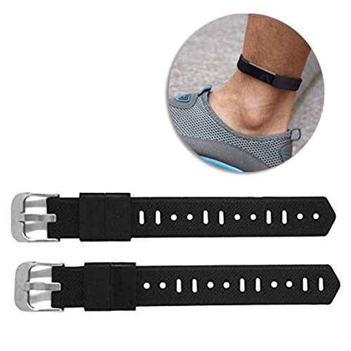 B-Great Silicone Extender Bands for Larger Size Wrist or Ankle Wear Compatible with Fitbit Flex/2 Fitbit Alta/HR Fitbit Ace Fitbit Inspire HR Watch Band (Black, Pack of 2)