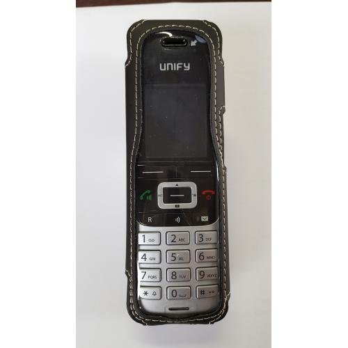 casYy Ledertasche für Unify DECT Phone S5 mit Drehclip