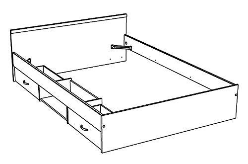 Jugendbett, Bett, 140x200cm mit 2 Bettkästen, weiss, Doppelbett, Leader 3.1 - 5