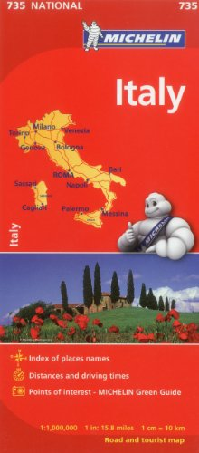 Michelin Italy Map 735 (Maps/Country (Michelin)) (Italian, English, French, German, Spanish and Dutch Edition)