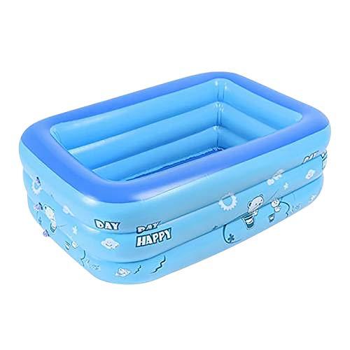 Piscina infantil para adultos y bebés, piscina inflable resistente al desgaste, duradera y cuadrada para el verano, juguete divertido para el jardín al aire libre, fiesta en el patio, 130 x 80 x 40 cm