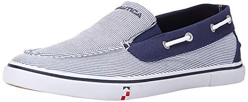Nautica Men's Doubloon Boat Shoe Slip-On Loafer-Doubloon-Navy Stripe-8
