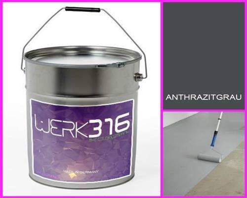 6,75€/l - 20L Bodenbeschichtung Betonfarbe Bodenfarbe Bodenversiegelung Garagenfarbe Anthrazitgrau