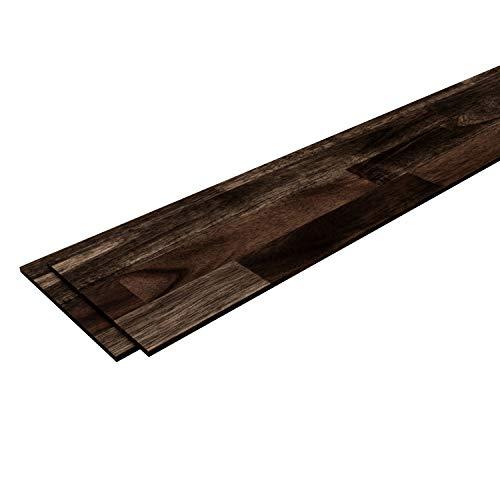 INTERBUILD acacia pannelli in legno per pareti Facile installazione per listelli da parete e progetti fai-da-te domestici in soggiorno, confezione da 5 ingressi, caffè espresso