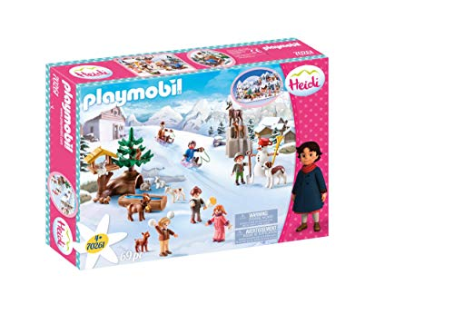 Playmobil - Heidi, El Mundo de Invierno de Heidi, Juguete, Color Multicolor, 70261
