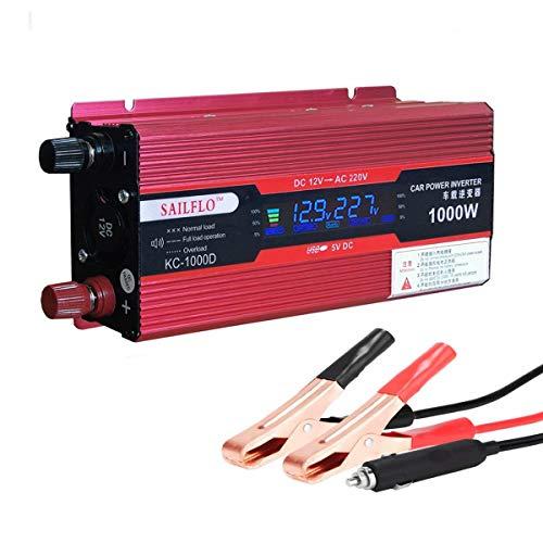 SAILFLO véhicule 1000W onduleur convertisseur DC 12 V vers AC 220 V Adaptateur USB Portable Transformateur de tension de voiture chargeurs