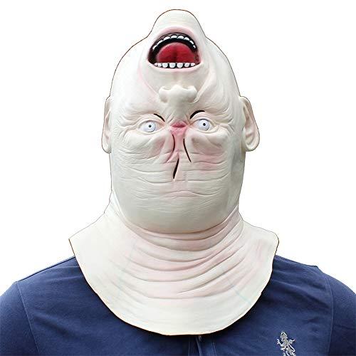 Ydq Halloween Latex Stunning Runter Spin Maske Kopf voller Horror-Kostüm,One Size Perfecto para Carnaval y Halloween Disfraz de Adulto unisexo