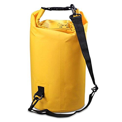 Dry Bag Leicht wasserdichte Tasche/Trockensack für Boot und Kajak Wassersport Wasserfeste Packsack/Sack ist erhältlich in 2L/3L/5L/10L/15L/20L/ 30L (Gelb, 5L)