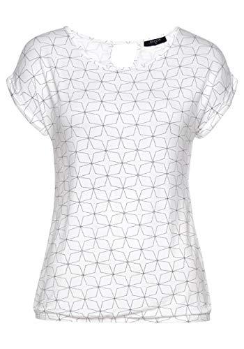 DOTIN Damen T-Shirt Kurzarm Blusen Shirt mit Allover Sternen Druck