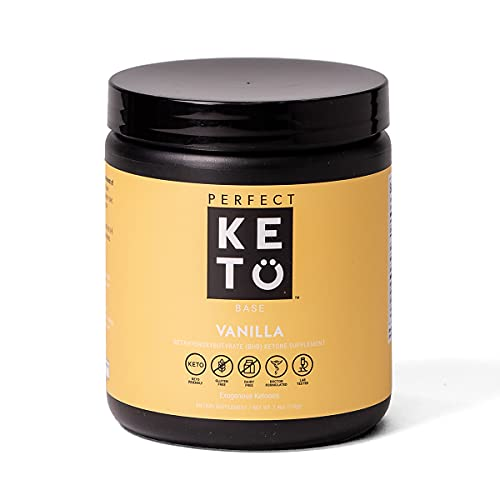 Exogenous Ketones Powder, BHB Beta-Hydroxybutyrate Salts Supplement, Best Fuel for Energy Boost, Mental Performance, Mix in Shakes, Milk, Smoothie Drinks for Ketosis – Vanilla