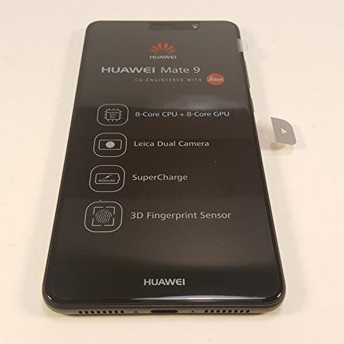 "NEW COLOR! Huawei Mate 9 MHA-L29 DUAL-SIM LTE 4G Unlocked Android Smartphone 20MP+12MP, Leica Camera 5.9"" FHD 4GB RAM 64GB International Version (BLACK)"