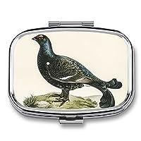 ポータブル薬箱小さなピルオーガナイザーピルケースボックス、個々のコンパートメントはビタミン、薬、ポータブルピルボックス財布またはポケット用の小さなピルコンテナを保持します。プラントシリーズチェリー