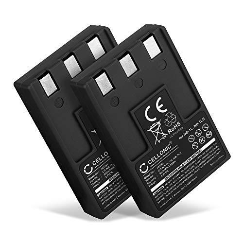 CELLONIC® 2X Batería de Repuesto NB-1LH per Canon Digital IXUS 300 330 400 430 500 IXUS V V2 V3 PowerShot S100 Digital ELPH S110 S200 S230 S300, 950mAh, Accu Sustitución Camara, Battery