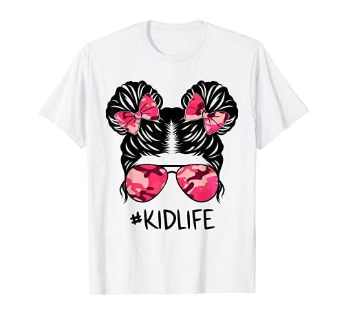 Messy Bun Army Kidlife Camo Print Gafas de sol Kid Life Camiseta