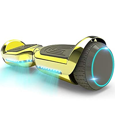 HOVERSTAR Hoverboard All-New Mode- HS2.1 Two-Wheel Self Balancing Scooter with Flashing Blue Wheel Lights and Wireless Bluetooth Speaker (Chrome Gold)