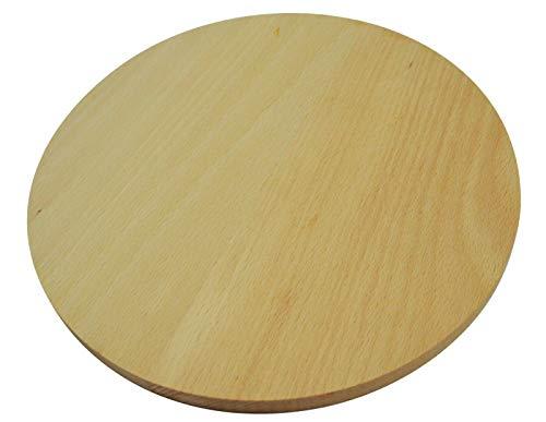 Wooden World Tabla Cortar Madera Redonda Circular
