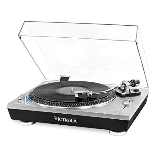 Victrola Pro Tocadiscos automático Bluetooth con grabación de Vinilo a MP3 por...
