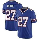 Maillot de Football américain, Maillot de Football Blanc 27 Bills Super Corner pour Homme, Cadeau de Chemise de Guerrier (Bleu)-WomenL
