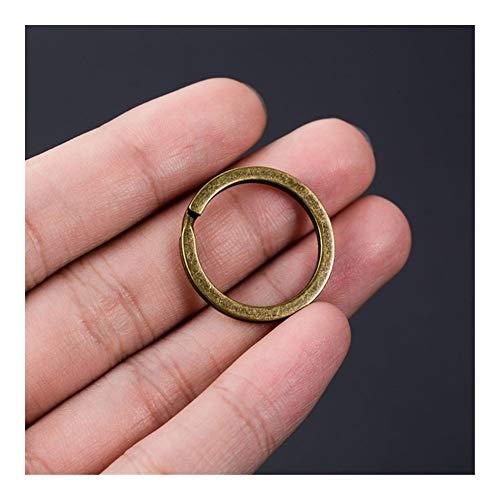 Llaveros 10pcs / pack Llavero Negro 25MM color del arma llavero Hierro dominante de la aleación del anillo dominante de bronce antiguo de accesorios de la cadena for hombres de las mujeres Llavero