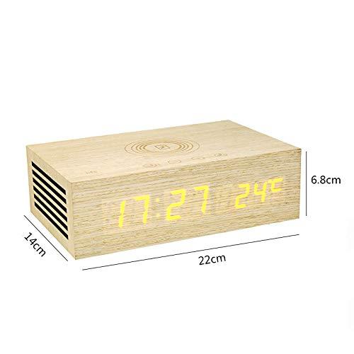 FPRW Reloj Despertador Digital de Madera