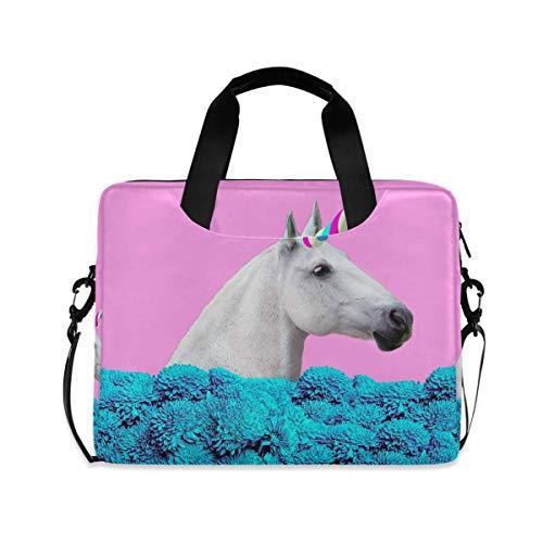 Laptop Sleeve Case,Laptop Bag,Unicorn Cute Water Briefcase Messenger Notebook Computer Bag with Shoulder Strap Handle,29×40 CM/15.6 Inch