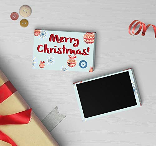 Merry Christmas Magnet | Christmas Refrigerator Magnet, Christmas Ornament Magnet, Talking Button Magnet | Sound Tag Magnet 00060 (120sec Recordable)