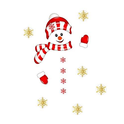 EUBEISAQI - Juego de pegatinas para nevera, muñeco de nieve de Navidad, decoración para nevera, puerta de pared, suministros para decoración del hogar