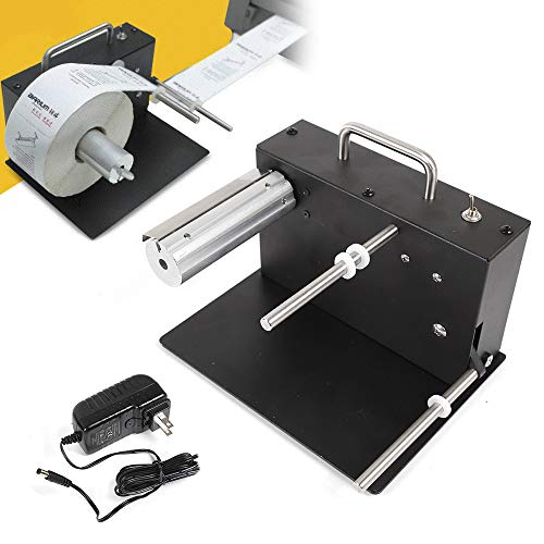 Automatic Label Rewinder Two-Way Automatic Rewind Synchronization Rewinding Machine 180mm for Bar Code Tags 110V-220V