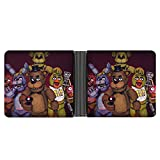 Five Nights at Freddy's Wallet for Men Leather Bifold with 6 Credit Card Pockets,New Leather high end Fashion Ultra Thin Short Large Capacity Wallet Men's Wallet