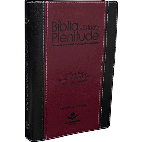 Bíblia de Estudo Plenitude - Almeida Revista e Corrigida - Capa Preta e Vinho