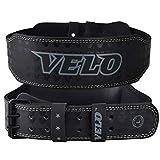 VELO - Cinturón de piel de búfalo para levantamiento de pesas de 10,16 cm, Blanco y...
