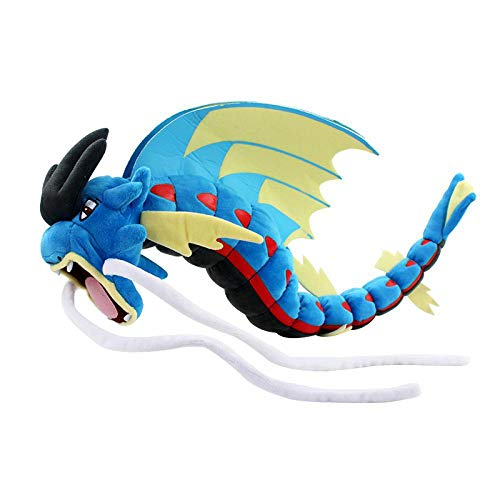 55cm 2Styles Mega Blue and Red Wing Gyarados Garados Plush Toys Peluche Dolls Soft Stuffed Cartoon Anime Toy Gift for Children Blue Gyarados