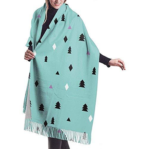 Nice-Guy Reizendes kleines skandinavisches Weihnachtsbaum-Schal-Verpackungs-Winter-warmes Schal-Kap Große weiche gemütliche Kaschmir-Schal-Verpackungs-Frau warme Schal-Stola