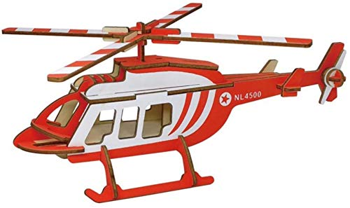 GXT Juguete Rompecabezas de Madera 3D Tridimensional ensamblado a Mano de Madera del Rompecabezas Pequeños Aviones de Juguetes educativos de...