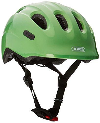ABUS Smiley 2.0 Kinderhelm - Robuster Fahrradhelm für Mädchen und Jungs - 72579 - Grün (funkelnd), Größe M
