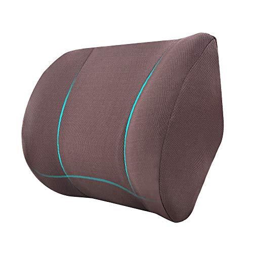 AmazonBasics Memory Foam Neck Support Pillow - Coffee, Paneled