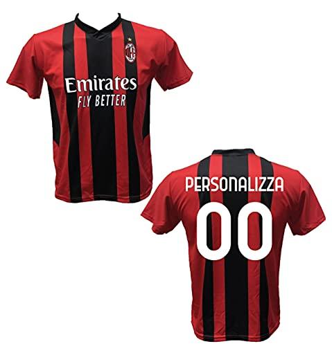 Maglia Calcio Milan Personalizzabile Replica Autorizzata 2021-2022 Bambino (Taglie 2 4 6 8 10 12) Adulto (S M L XL)(L)