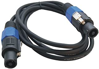 HQRP 6ft Speakon to Speakon (M/M) Cable for Fender Bassman 610/810 Neo Amplifier Speaker Cabinet ; Genz-Benz Streamliner 600 Bass Amp Head plus HQRP Coaster