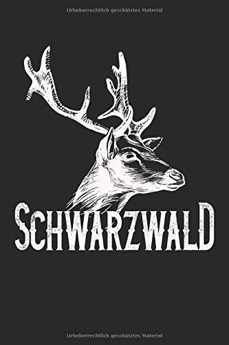 Schwarzwald: Schwarzwald Design mit Hirsch Heimat regionale Geschenke Notizbuch Punktraster gepunktet (A5 Format, 15,24 x 22,86 cm, 120 Seiten)