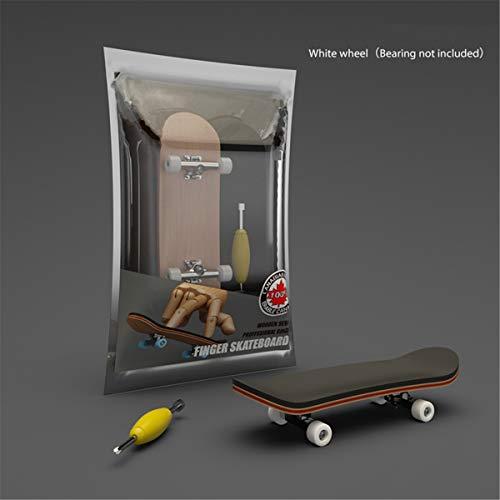Djvn Finger Skate Fingerboard Toy Toy Toy - Juego de palos de madera, 9 x 2,9 x 2 cm, color ver las fotos