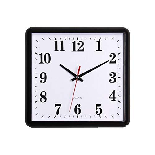 TIANYOU Reloj 10 Pulgadas de Pared con Estilo Minimalista Creativo Cuadrado de Pared Sala de Estar Dormitorio Moderno Casero Tranquilo Cuarzo Reloj de cocina/Style one/Style one