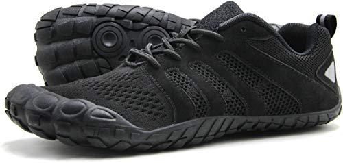 Oranginer Men's Barefoot Shoes Big Toe Box Minimalist Running Shoes for Tennis Run Walk Athletic Black Size 10