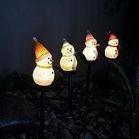 クリスマスガーデンステークライト防水クリスマススノーマンステークソーラーパワーライトワイヤレスランドスケープLEDステークパスライトガーデンライト屋外クリスマスヤード装飾