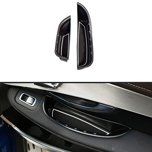 Accessoires de Plateau de Rangement en Plastique pour boîte de Rangement de poignée d'accoudoir de Porte de Voiture Noir pour LHD Classe de Conduite à Gauche W205 GLC X253 2015-2018