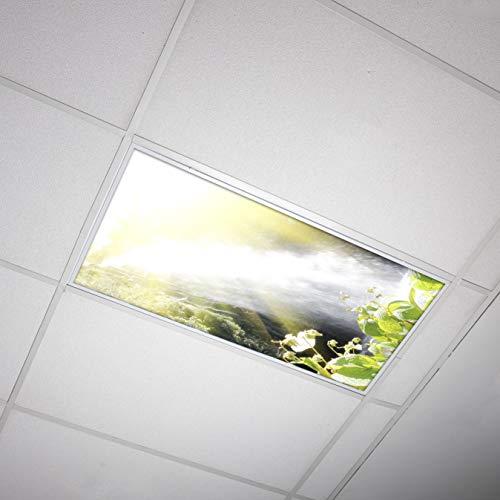 Octo Lights - Fluorescent Light Covers 2x4 - Fluorescent Light Filters - Ceiling Light Covers - for Classroom, Kitchen, Office - Waterfall 002