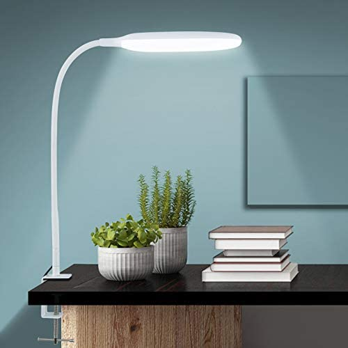 NovoLido 10W LED Desk Lamp with Clamp 360 Flexible Table Lamp with 3 Color Modes Stepless Dimming product image