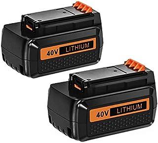 Batería Hfeng Compatible con Black Decker 40V Batería y Dewalt 18v Batería ...