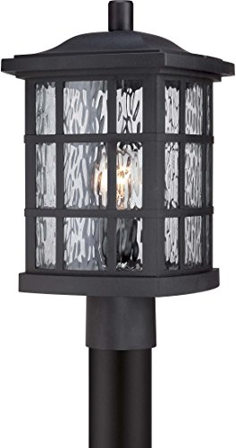 "Quoizel SNN9009K Stonington Outdoor Post Lantern, 1-Light, 100 Watt, Mystic Black (17""H x 10""W)"