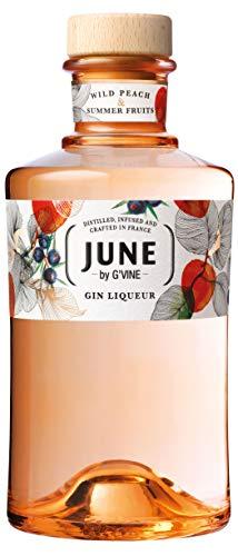 G'Vine Gin JUNE Wild Peach & Summer Fruits 700 ml Geruch von fruchtigem, delikatem Pfirsich & Sommerfrüchten subtile Schärfe rund, köstlicher & deikater Geschmack weiches & lang anhaltendes Finish